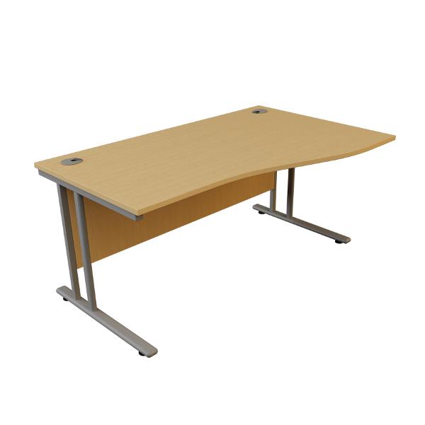 Charter Office Furniture Birmingham Zbudget Desk 1800mm Wave