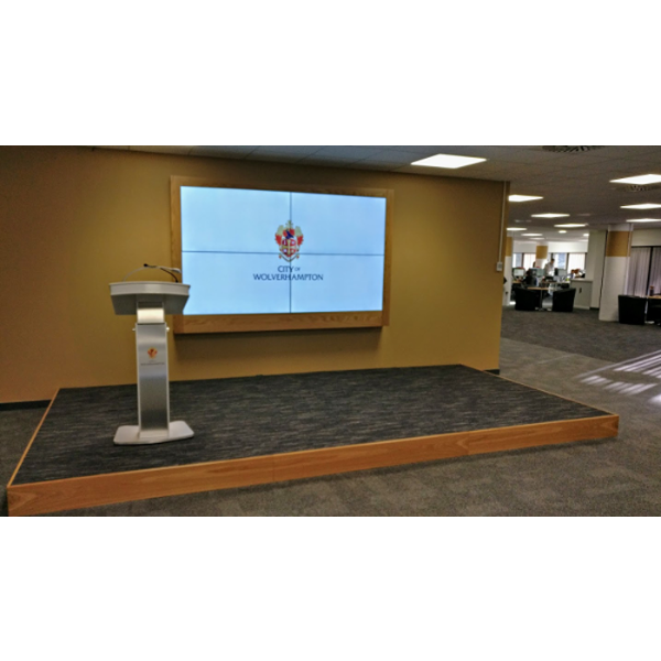 Charter Office Furniture Birmingham Bespoke Media Stage